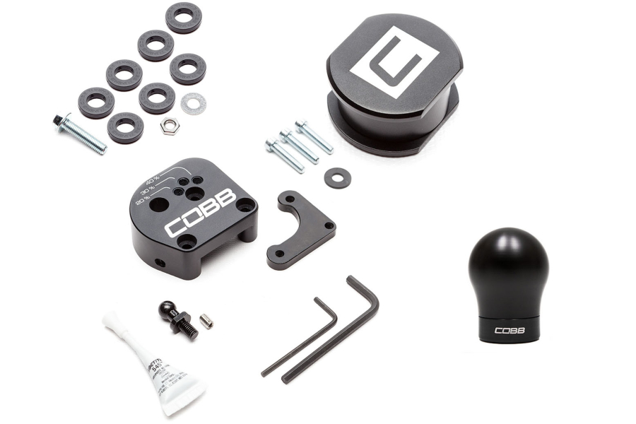 COBB Tuning Stage 1+ Drivetrain Package Black / Black Shift Knob - Ford Focus ST 2013+ / RS 2016+