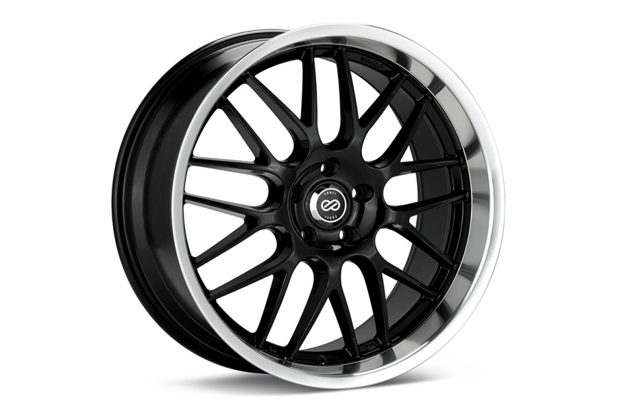 Enkei Lusso 5x114.3 Black with Machined Lip - Universal