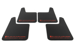 Rally Armor Universal MSpec Mudflap Black Urethane Red Logo (Part Number: )