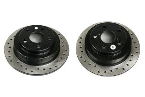 Stoptech Drilled Rear Rotor Pair - Subaru Models (inc. 2002-2005 WRX)