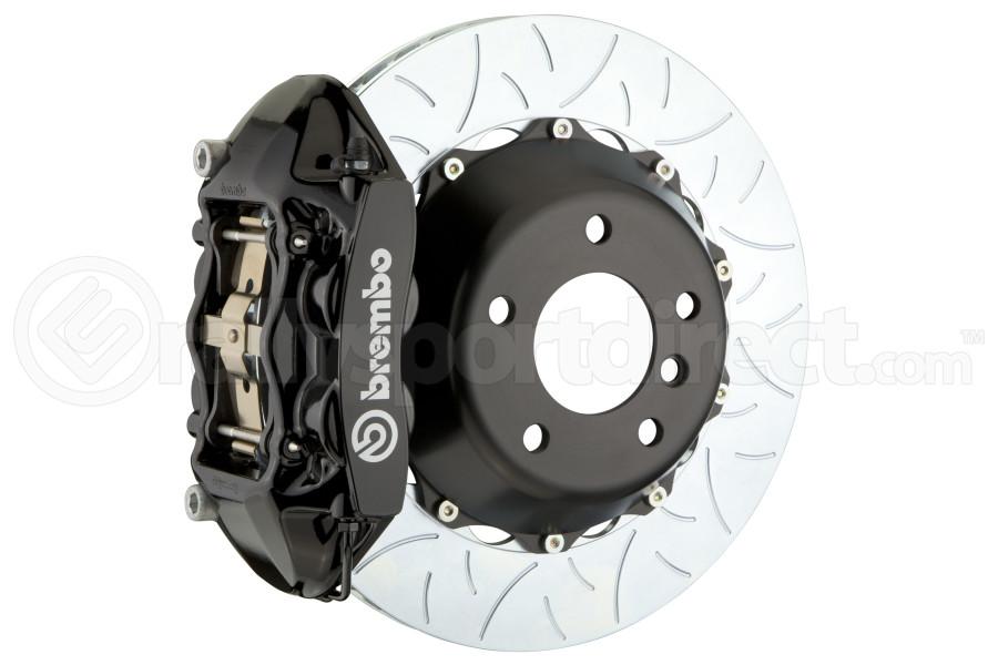 Brembo GT Systems 4 Piston Rear Big Brake Kit Black Slotted Rotors - Subaru STI 2008-2014 / Legacy GT/3.6 2010-2014