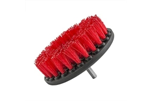 Chemical Guys Carpet Brush w/ Drill Attachment Hard Red - Universal