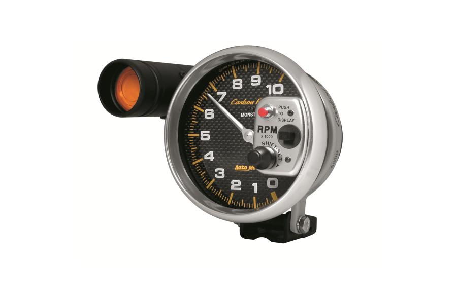Autometer Carbon Fiber Pedestal Tachometer Gauge w/ Shift Light 5in - Universal