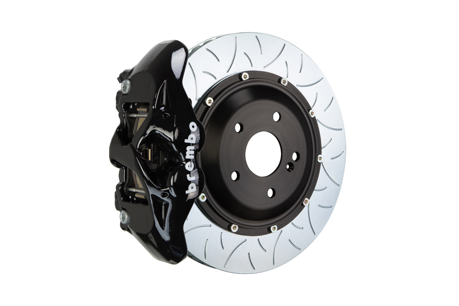 Brembo GT Systems Monobloc 4 Piston 345mm Type 3 Slotted Black - Honda Civic Type R/SI 2017+