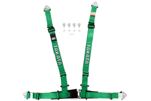 Takata Drift II 4-Point Harness Green Snap-On (Part Number: )