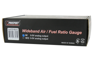 ProSport Wideband Air Fuel Ratio Guage w/O2 Sensor Blue/White/Amber 52mm ( Part Number:PRS 216HLAFR270-PKWB4.9-WO)
