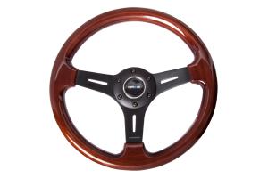 NRG Classic Wood Grain Wheel 330mm Matte Black - Universal