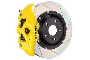 Brembo GT Systems Monobloc 4 Piston 345mm Slotted Fluorescent Yellow - Honda Civic Type R/SI 2017+