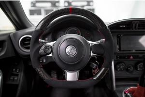 FT-86 Speed Factory CP Style Carbon Fiber / Alcantara Steering Wheel - Subaru BRZ 2017-2021 / Toyota 86 2017-2021