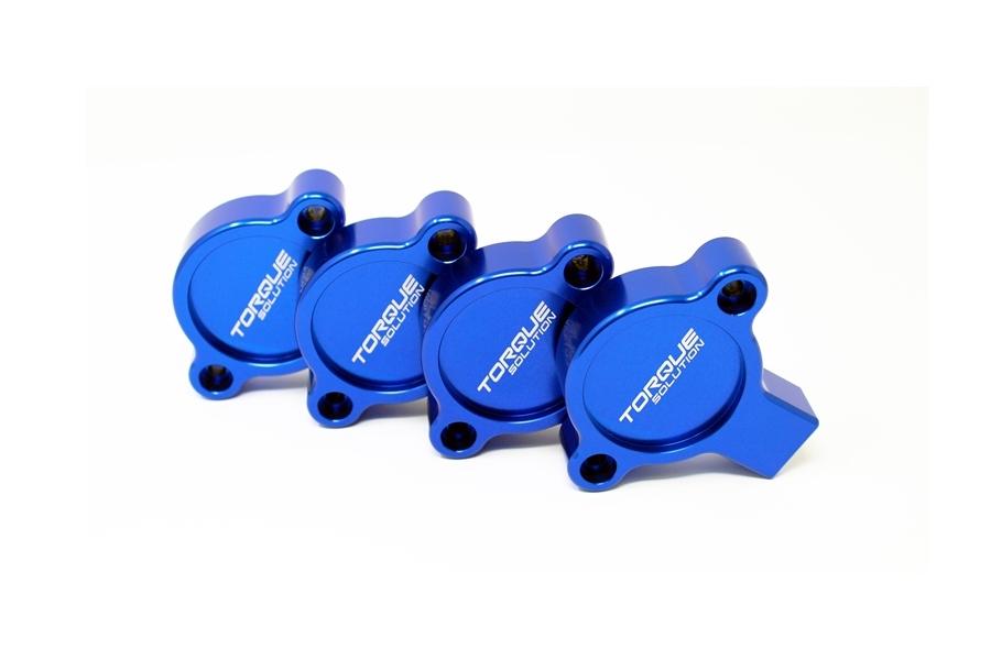 Torque Solution AVCS Cam Sensor Covers Blue - Subaru Models (inc. 2015+ WRX / 2013+ BRZ)