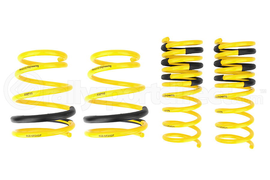 Racecomp Engineering Yellow Lowering Springs (Part Number:GR340)