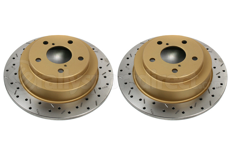 DBA 4000 Series Drilled/Slotted Rear Rotor Pair (Part Number:4644XSG)