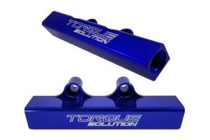 Torque Solution Top Feed Fuel Rails Blue - Subaru WRX 2002-2014 / STI 2007+