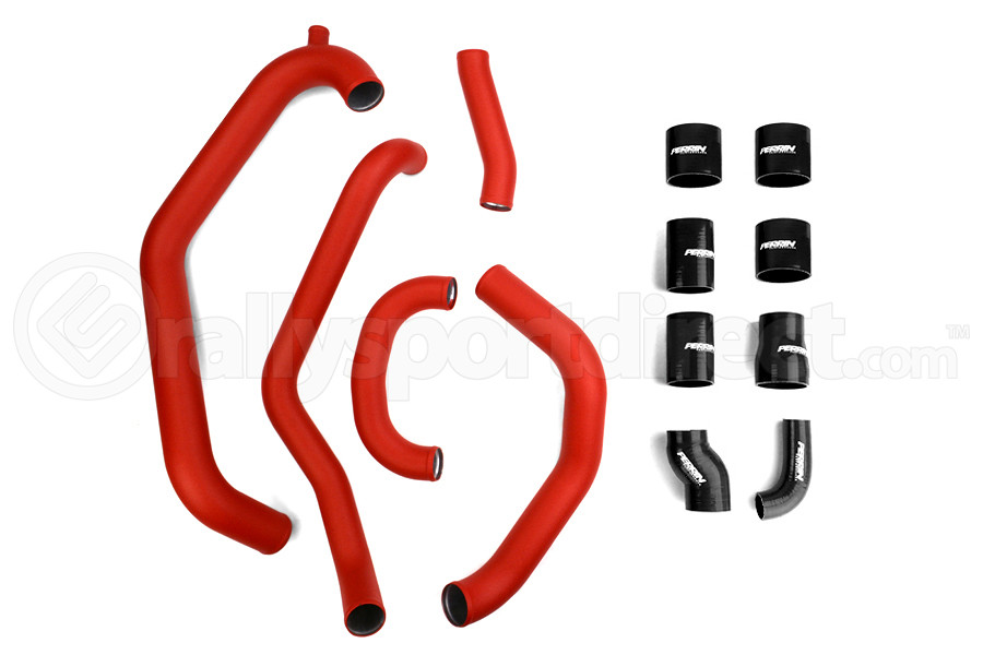PERRIN Boost Tube Kit Red Piping Black Couplers ( Part Number:PER2 PSP-ITR-436-2RD/BK)