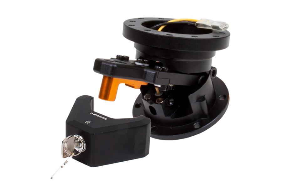 NRG Steering Wheel Quick Tilt System w/ Lock Black - Universal