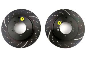 EBC Brakes 3GD Sport Dimpled/Slotted Rear Brake Rotors - Mitsubishi Evo 8/9 2003-2006