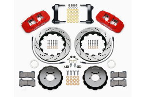Wilwood AERO6 14in Front Kit Drilled / Slotted Red - Subaru Models (inc. 2002-2014 WRX / 2004+ STI)