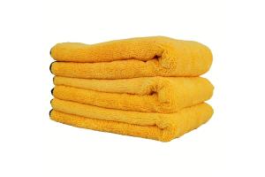 Chemical Guys Professional Grade Premium Silk Banded Microfiber Towels (3 Pack) - Universal