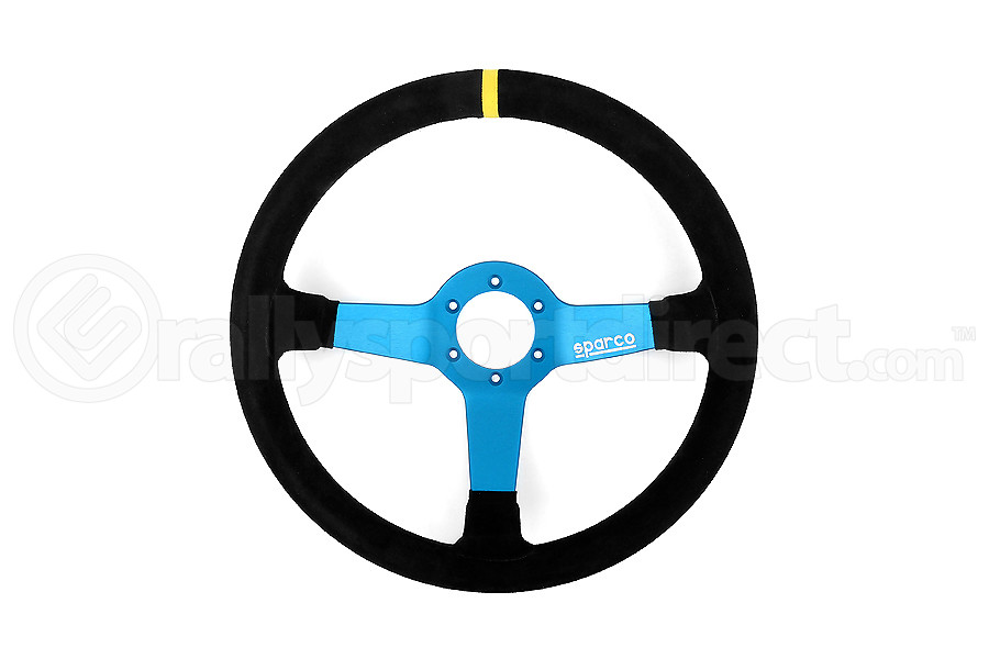 Sparco Monza L550 Black/Blue Suede Steering Wheel (Part Number:015TMZS1)