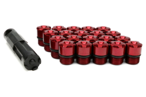 KICS R40 Iconix Aluminum Caps Red M12X1.25 ( Part Number:KIC WCIA3R)