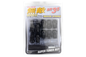 Muteki SR35 16+4 Closed Ended Black Lug Nuts 35mm 12x1.25 (Part Number: )