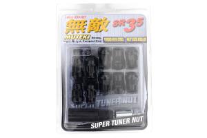 Muteki SR35 16+4 Closed Ended Black Lug Nuts 35mm 12x1.25 ( Part Number:KIC 32925BP)