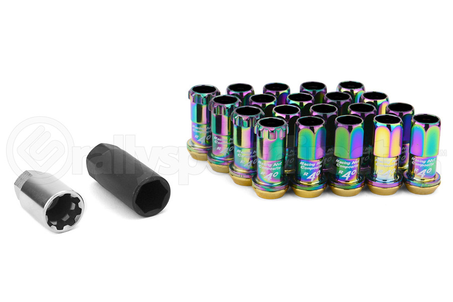 KICS R40 16+4 Piece Neo Chrome 12x1.25 Lug Nuts (Part Number:31875NK)