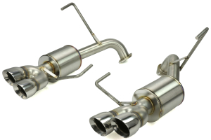 Nameless Performance 3in Quad Exit Axle Back Exhaust Polished ( Part Number: RSPD013)