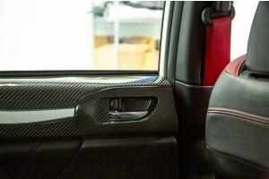 OLM LE Dry Carbon Rear Door Trim Upper Panels - Subaru WRX / STI 2015-2021