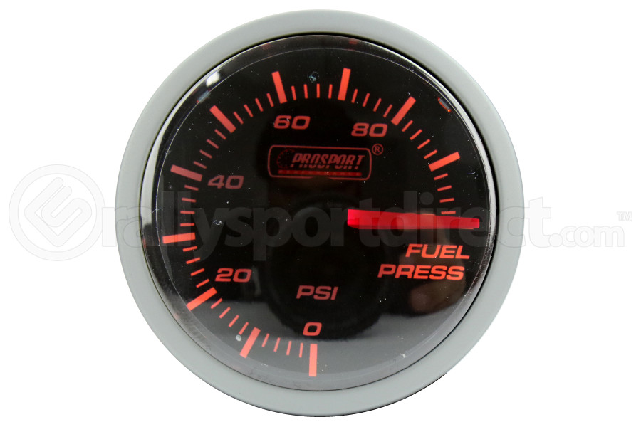 ProSport Fuel Pressure Gauge Electrical w/ Sender 52mm Amber/White (Part Number:216BFWAFPSM.PSI)