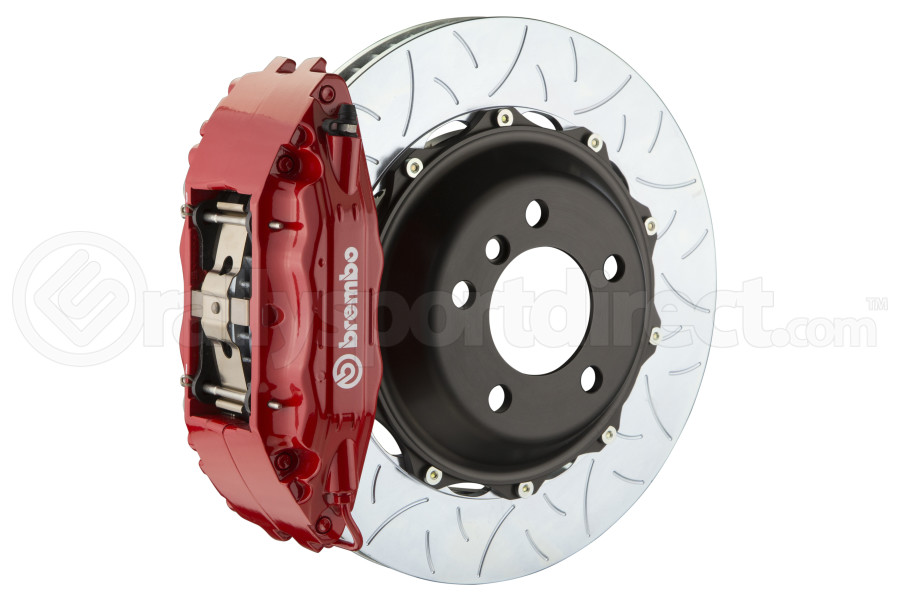 Brembo GT Systems 4 Piston Front Red Big Brake Kit Type 3 Slotted Rotors - Subaru STI 2005-2017