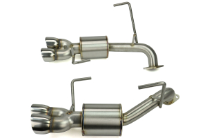 Nameless Performance 3in Quad Exit Axle Back Exhaust Polished (Part Number: )