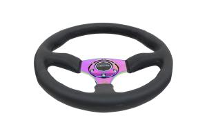 NRG Reinforced Steering Wheel 350mm Comfort Neochrome - Universal