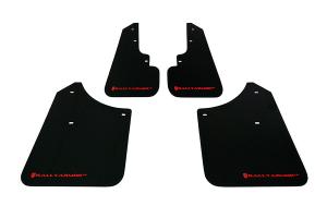 Rally Armor UR Mudflaps Black Urethane Red Logo ( Part Number: MF5-UR-BLK/RD)