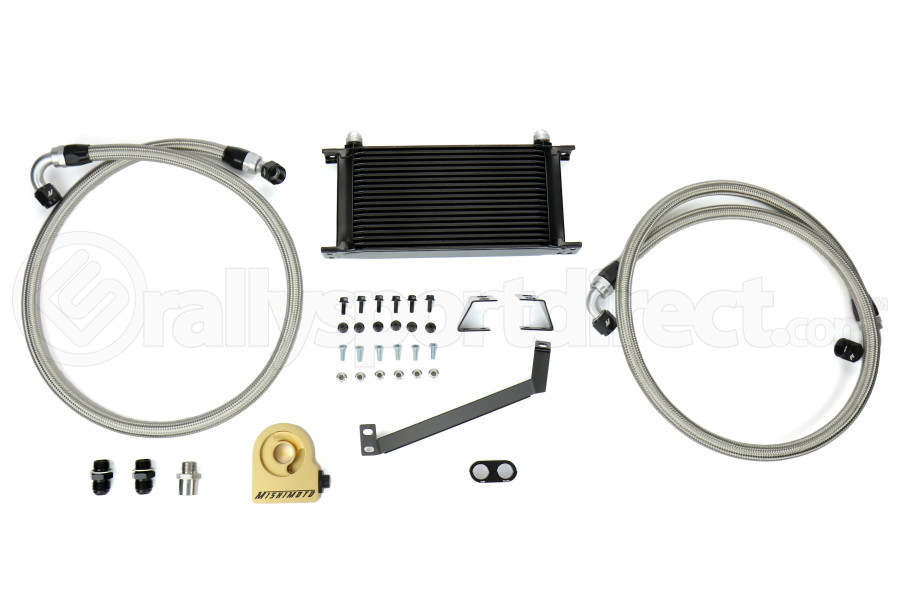 Mishimoto Thermostatic Oil Cooler Kit Black - Ford Mustang EcoBoost 2015+