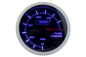 ProSport Fuel Pressure Gauge Electrical w/Sender Blue/White 52mm ( Part Number:PRS 216BFWBFPSM.PSI)