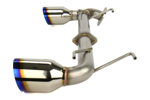 Remark Axle Back Exhaust Muffler Delete w/ Burnt Stainless Steel Single Wall Tips (Part Number: )
