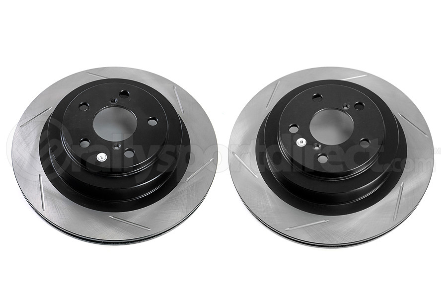 Stoptech Slotted Rear Rotor Pair - Subaru Models (inc. 2006-2007 WRX / 2005-2009 Legacy GT)