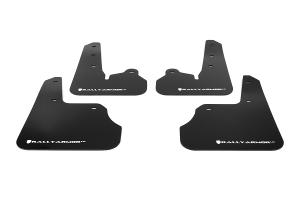 Rally Armor UR Mudflaps Black Urethane White Logo ( Part Number: MF22-UR-BLK/WH)