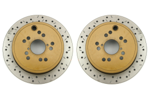 DBA 4000 Series Drilled/Slotted Rotor Rear Pair (Part Number: )