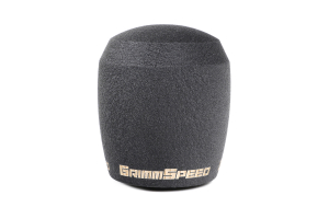 GrimmSpeed Stubby Shift Knob Stainless Steel Black w/ 5SPD Boot Retainer - Subaru 5MT Models (inc. 2002-2014 WRX)