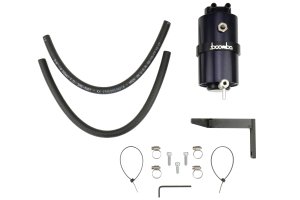 Boomba Racing Stage 2 Oil Catch Can Kit (PCV) Black (Part Number: )