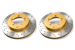 DBA 4000 Series Drilled/Slotted Rotor Pair Rear (Part Number: )