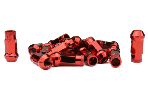 Muteki SR48 Chrome Red Open Ended Lug Nuts 12X1.50 (Part Number: )