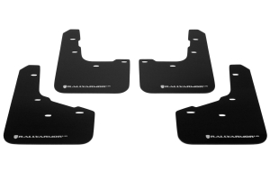 Rally Armor UR Mudflaps Black Urethane White Logo ( Part Number:RAL MF29-UR-BLK/WH)