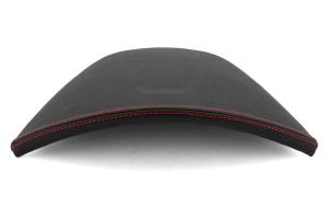JPM Coachworks OEM Cluster Hood Black Simulated Ultraleather Red Stitching  ( Part Number: 1105VBK-R)