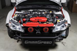 Grimmspeed Front Mount Intercooler Kit Black Core w/ Black Piping - Subaru WRX 2008-2014