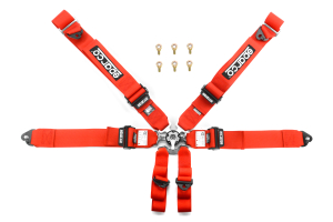 Sparco 6-Point Pull Up Harness Red ( Part Number:SPR1 04827BMPDRS)