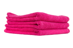 Chemical Guys Ultra Fine Microfiber Towels Pink (3 Pack) - Universal