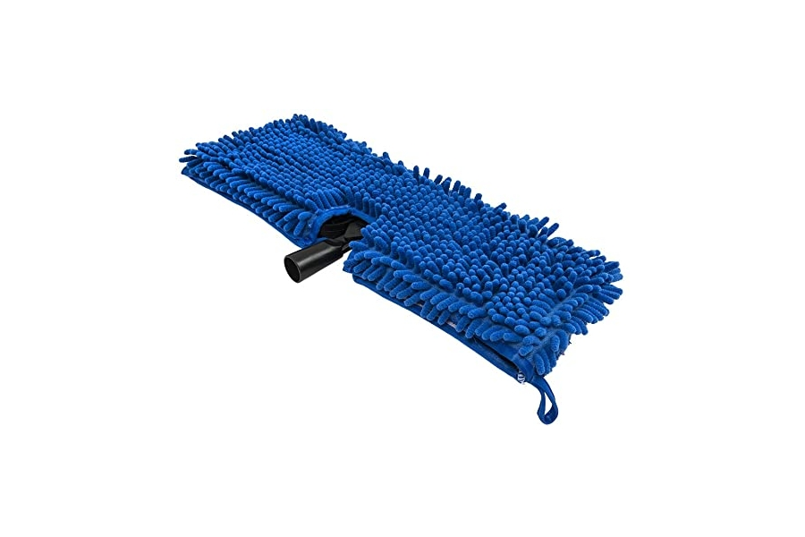 Chemical Guys Chenille Wash Mop Blue w/ Plastic Head Attachment - Universal